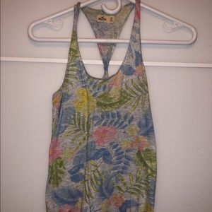 $6 W/Purchase Hollister Floral Twist Back Tank Top